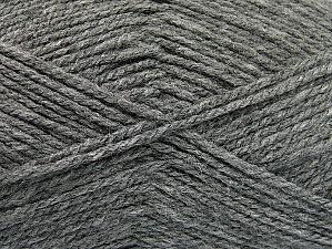 Worsted  Fiber Content 100% Acrylic, Brand ICE, Grey, fnt2-58559