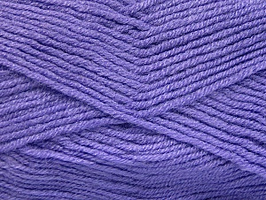 Fiber Content 50% Wool, 50% Acrylic, Lilac, Brand ICE, Yarn Thickness 4 Medium  Worsted, Afghan, Aran, fnt2-58562