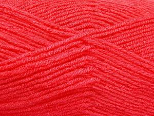 Fiber Content 50% Wool, 50% Acrylic, Salmon, Brand ICE, Yarn Thickness 4 Medium  Worsted, Afghan, Aran, fnt2-58563