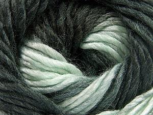 Fiber Content 50% Wool, 50% Acrylic, Light Mint Green, Brand ICE, Anthracite Black, fnt2-58578