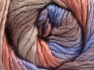 Fiber Content 50% Acrylic, 50% Wool, Salmon, Lilac, Light Maroon, Brand ICE, fnt2-58579