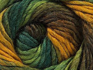 Fiber Content 50% Acrylic, 50% Wool, Brand ICE, Green Shades, Gold, Brown Shades, fnt2-58583