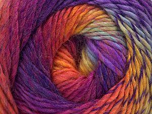 Fiber Content 70% Acrylic, 30% Wool, Yellow, Turquoise, Purple, Brand ICE, Fuchsia, fnt2-58585