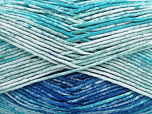 Fiber Content 50% Cotton, 50% Premium Acrylic, Turquoise, Brand ICE, Blue Shades, fnt2-58688