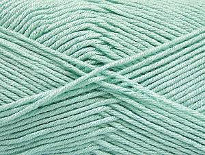 Fiber Content 50% Acrylic, 50% Bamboo, Mint Green, Brand ICE, Yarn Thickness 2 Fine  Sport, Baby, fnt2-58696