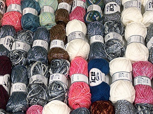 Fancy Yarns This mixed lot includes a total of 2000 gr (70.5 oz.) leftover yarns. There is no standard for fiber content and weight. Also disregard any information on the labels. You will get what you see in the photo. Brand ICE, fnt2-58716