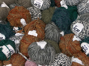 Winter Yarns This mixed lot includes a total of 2000 gr (70.5 oz.) leftover yarns. There is no standard for fiber content and weight. Also disregard any information on the labels. You will get what you see in the photo. Brand ICE, fnt2-58731
