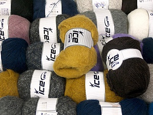 Winter Yarns This mixed lot includes a total of 2000 gr (70.5 oz.) leftover yarns. There is no standard for fiber content and weight. Also disregard any information on the labels. You will get what you see in the photo. Brand ICE, fnt2-58742