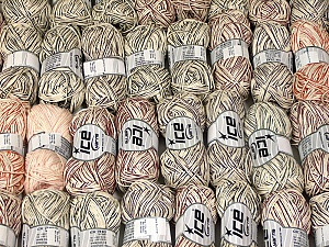 Summer Yarns This mixed lot includes a total of 2000 gr (70.5 oz.) leftover yarns. There is no standard for fiber content and weight. Also disregard any information on the labels. You will get what you see in the photo. Fiber Content 60% Viscose, 40% Cotton, Brand ICE, fnt2-58754