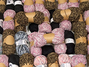 Summer Yarns This mixed lot includes a total of 2000 gr (70.5 oz.) leftover yarns. There is no standard for fiber content and weight. Also disregard any information on the labels. You will get what you see in the photo. Brand ICE, fnt2-58766