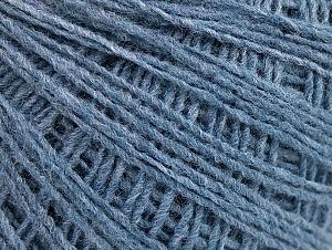 Fiber Content 50% Acrylic, 50% Wool, Brand ICE, Blue, fnt2-58854