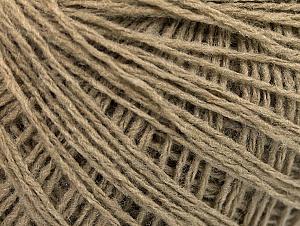 Fiber Content 50% Wool, 50% Acrylic, Brand ICE, Beige, Yarn Thickness 2 Fine  Sport, Baby, fnt2-58864