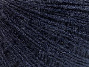 Fiber Content 50% Wool, 50% Acrylic, Brand ICE, Dark Navy, Yarn Thickness 2 Fine  Sport, Baby, fnt2-58881