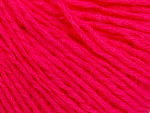 Fiber Content 50% Acrylic, 50% Wool, Neon Pink, Brand ICE, Yarn Thickness 3 Light  DK, Light, Worsted, fnt2-58929