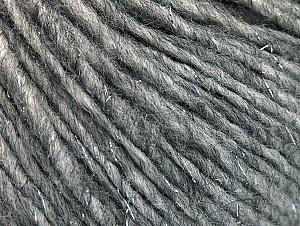 Fiber Content 35% Wool, 33% Acrylic, 29% Alpaca, 2% Polyamide, 1% Metallic Lurex, Silver, Brand ICE, Grey, Yarn Thickness 4 Medium  Worsted, Afghan, Aran, fnt2-58950