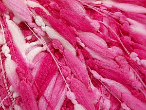 Fiber Content 100% Polyamide, White, Pink Shades, Brand ICE, fnt2-58959