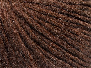 Fiber Content 50% Merino Wool, 25% Alpaca, 25% Acrylic, Brand ICE, Dark Brown, fnt2-59038