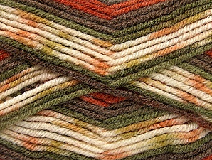 Fiber Content 75% Acrylic, 25% Wool, Khaki, Brand ICE, Cream, Copper, Brown, Yarn Thickness 4 Medium  Worsted, Afghan, Aran, fnt2-59056