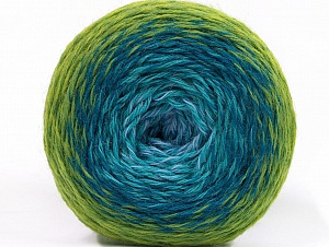 Fiber Content 75% Superwash Wool, 25% Polyamide, Turquoise Shades, Brand ICE, Green Shades, fnt2-59069