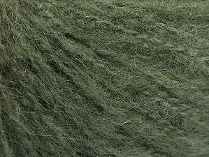 Fiber Content 70% Acrylic, 20% Mohair, 10% Wool, Khaki, Brand ICE, Yarn Thickness 3 Light  DK, Light, Worsted, fnt2-59089