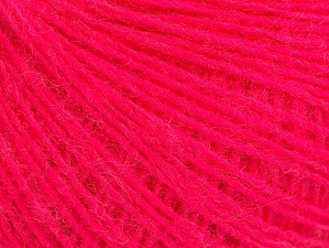 Fiber Content 50% Acrylic, 30% Wool, 20% Mohair, Neon Pink, Brand ICE, Yarn Thickness 2 Fine  Sport, Baby, fnt2-59107