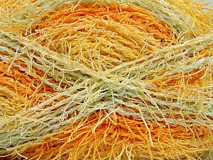 If you want to crochet or knit up washcloths or dishcloths.  That name is SCRUBBER TWIST. Washing instructions: Machine wash warm on a gentle cycle. Do not iron. Tumble dry Fiber Content 100% Polyester, Yellow, White, Orange, Light Green, Brand ICE, Yarn Thickness 4 Medium  Worsted, Afghan, Aran, fnt2-59117