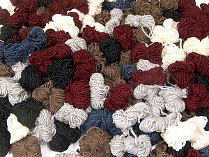 Peru Alpaca Leftover This mixed lot includes about 100 hanks of Peru Alpaca leftover yarns. There is no standard for fiber content and weight. The total weight is 2000 gr (70.5 oz.). Fiber Content 50% Merino Wool, 25% Alpaca, 25% Acrylic, Brand ICE, fnt2-59257