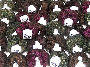 Metallic Yarns This mixed lot includes a total of 2000 gr (70.5 oz.) yarn. There is no standard for ball weight. Also disregard any information on the labels. You will get what you see in the photo. Brand ICE, fnt2-59265