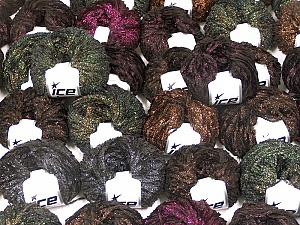 Metallic Yarns This mixed lot includes a total of 2000 gr (70.5 oz.) yarn. There is no standard for ball weight. Also disregard any information on the labels. You will get what you see in the photo. Brand ICE, fnt2-59268