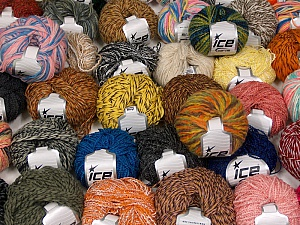 Fancy Yarns This mixed lot includes a total of 2000 gr (70.5 oz.) yarn. There is no standard for ball weight. Also disregard any information on the labels. You will get what you see in the photo. Brand ICE, fnt2-59274