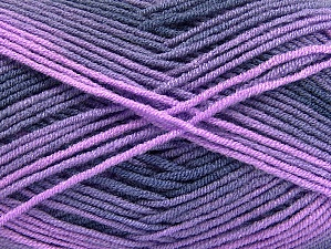 Fiber Content 100% Acrylic, Purple, Navy, Lilac Shades, Brand ICE, fnt2-59337
