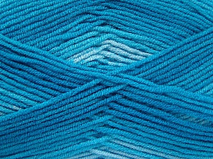 Fiber Content 100% Acrylic, Turquoise Shades, Brand ICE, fnt2-59339