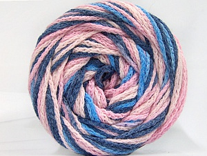 Fiber Content 50% Polyamide, 50% Acrylic, Pink Shades, Brand ICE, Blue Shades, Yarn Thickness 5 Bulky  Chunky, Craft, Rug, fnt2-59348