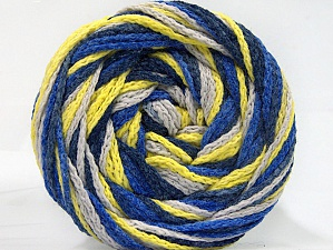 Fiber Content 50% Acrylic, 50% Polyamide, Neon Yellow, Brand ICE, Blue Shades, Beige, Yarn Thickness 5 Bulky  Chunky, Craft, Rug, fnt2-59352