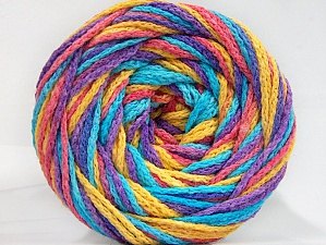 Fiber Content 50% Acrylic, 50% Polyamide, Turquoise, Salmon, Lavender, Brand ICE, Gold, Yarn Thickness 5 Bulky  Chunky, Craft, Rug, fnt2-59362