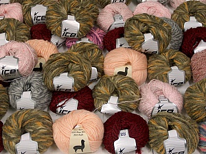 Winter Yarns This mixed lot includes a total of 2000 gr (70.5 oz.) yarn. There is no standard for ball weight. Also disregard any information on the labels. You will get what you see in the photo. Brand ICE, fnt2-59442