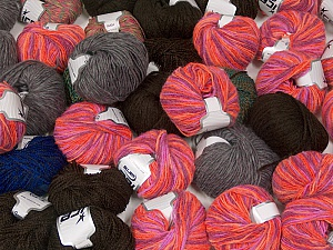 Winter Yarns This mixed lot includes a total of 2000 gr (70.5 oz.) yarn. There is no standard for ball weight. Also disregard any information on the labels. You will get what you see in the photo. Brand ICE, fnt2-59447