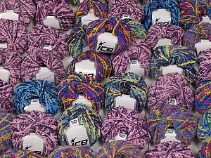 Puffy Fine This mixed lot includes a total of 2000 gr (70.5 oz.) yarn. There is no standard for ball weight. Also disregard any information on the labels. You will get what you see in the photo. Fiber Content 100% Polyamide, Brand ICE, fnt2-59479