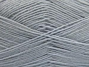 Fiber Content 75% Superwash Wool, 25% Polyamide, Brand ICE, Grey, fnt2-59492
