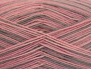 Fiber Content 75% Superwash Wool, 25% Polyamide, Pink Shades, Light Camel, Brand ICE, fnt2-59494