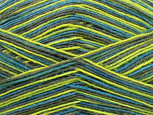 Fiber Content 75% Superwash Wool, 25% Polyamide, Turquoise, Light Green, Brand ICE, Grey, fnt2-59495