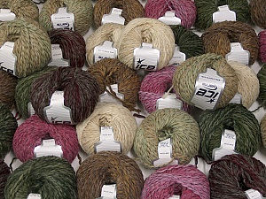 Sale Winter This mixed lot includes a total of 2000 gr (70.5 oz.) yarn. There is no standard for ball weight. Also disregard any information on the labels. You will get what you see in the photo. Fiber Content 45% Acrylic, 45% Wool, 10% Polyamide, Brand ICE, fnt2-59641