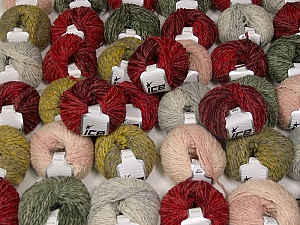 Sale Winter This mixed lot includes a total of 2000 gr (70.5 oz.) yarn. There is no standard for ball weight. Also disregard any information on the labels. You will get what you see in the photo. Fiber Content 45% Acrylic, 45% Wool, 10% Polyamide, Brand ICE, fnt2-59645