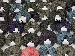 Sale Winter This mixed lot includes a total of 2000 gr (70.5 oz.) yarn. There is no standard for ball weight. Also disregard any information on the labels. You will get what you see in the photo. Fiber Content 45% Wool, 45% Acrylic, 10% Polyamide, Brand ICE, fnt2-59652