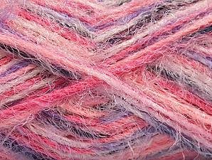 Fiber Content 60% Acrylic, 40% Polyamide, Pink Shades, Lilac, Brand ICE, Black, Yarn Thickness 4 Medium  Worsted, Afghan, Aran, fnt2-59688