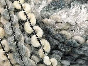 Fiber Content 50% Polyamide, 30% Wool, 20% Acrylic, White, Brand ICE, Grey Shades, Cream, fnt2-59698