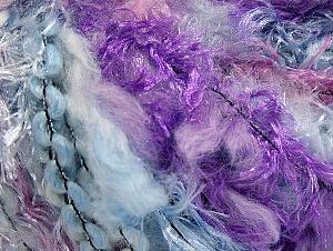 Fiber Content 50% Polyamide, 30% Wool, 20% Acrylic, Lilac, Light Pink, Light Blue, Brand ICE, fnt2-59711