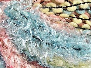 Fiber Content 50% Polyamide, 30% Wool, 20% Acrylic, Light Yellow, Light Pink, Light Blue, Brand ICE, fnt2-59717
