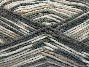 Fiber Content 100% Acrylic, Brand ICE, Grey Shades, Yarn Thickness 4 Medium  Worsted, Afghan, Aran, fnt2-59725