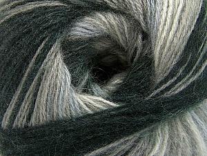 Fiber Content 60% Acrylic, 20% Angora, 20% Wool, Brand ICE, Grey Shades, Black, Yarn Thickness 2 Fine  Sport, Baby, fnt2-59746